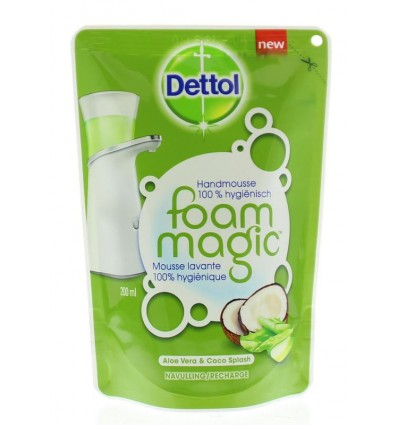 Dettol Foam magic aloe vera navul 200 ml | € 1.85 | Superfoodstore.nl