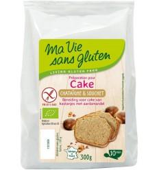 Ma Vie Sans Amandel kastanje cakemix bio - glutenvrij 300 gram | € 3.87 | Superfoodstore.nl