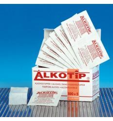 Alkotip Alcoholdoekje alkotip 105 stuks | € 2.65 | Superfoodstore.nl