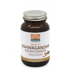 Mattisson Absolute ashwagandha 425 mg 90 tabletten | € 13.90 | Superfoodstore.nl