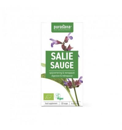 Purasana Bio salie 250 mg 120 vcaps | € 12.85 | Superfoodstore.nl
