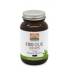 Mattisson CBD Olie 15 mg 60 vcaps | € 25.45 | Superfoodstore.nl