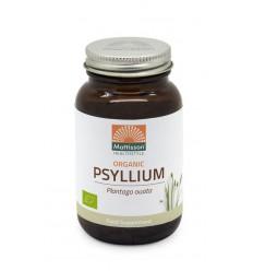 Mattisson Psyllium Husk 750 mg biologisch 90 vcaps   € 8.96   Superfoodstore.nl