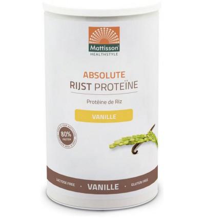 Mattisson Absolute Rijst Proteine vanille 500 gram | € 14.60 | Superfoodstore.nl