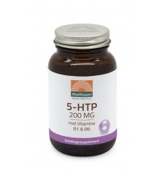 Mattisson 5-HTP 200 mg vitamine B1 & B6 60 capsules | € 20.59 | Superfoodstore.nl