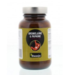 Hanoju Bromelaine papaja enzym 90 vcaps | € 13.35 | Superfoodstore.nl