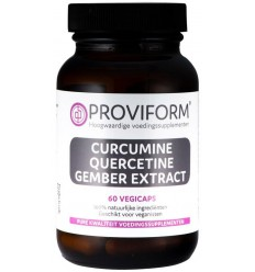 Proviform Curcumine quercetine gember extract 60 vcaps | € 29.19 | Superfoodstore.nl