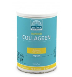 Mattisson Runder collageen poeder Peptan 300 gram | € 15.48 | Superfoodstore.nl