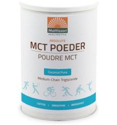 Mattisson MCT Poeder coconut pure 350 gram   € 18.55   Superfoodstore.nl
