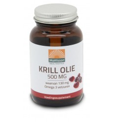 Mattisson Krill olie 500 mg 60 capsules | € 15.05 | Superfoodstore.nl