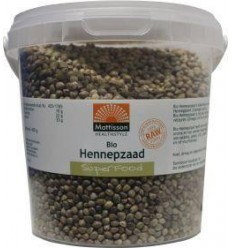 Mattisson Bio hennepzaad ongepeld raw 400 gram | € 4.95 | Superfoodstore.nl