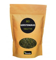 Hanoju Bio gerstegras 500 mg paper bag 500 tabletten | € 25.14 | Superfoodstore.nl