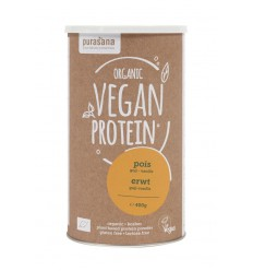 Purasana Vegan protein pea goji vanilla 400 gram | € 16.85 | Superfoodstore.nl
