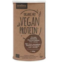 Purasana Vegan protein mix pumpkin sunflower hemp cocoa cho 400 gram | € 17.31 | Superfoodstore.nl