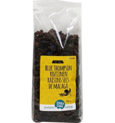 Terrasana RAW Rozijnen blue thompson 500 gram | € 4.01 | Superfoodstore.nl