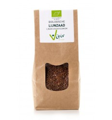 Vitiv Lijnzaad heel 500 gram | € 3.03 | Superfoodstore.nl