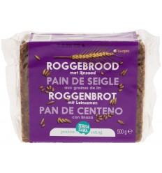 Terrasana Roggebrood lijnzaad 500 gram | € 1.85 | Superfoodstore.nl