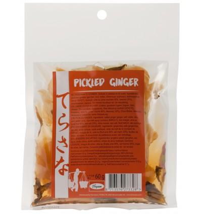 Terrasana Gember pickled 60 gram | € 2.78 | Superfoodstore.nl