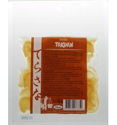 Terrasana Slices Takuan daikonradijs pickled 50 gram | € 2.63 | Superfoodstore.nl