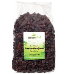 Bountiful Rozijnen jumbo black flame 1 kg | € 6.59 | Superfoodstore.nl