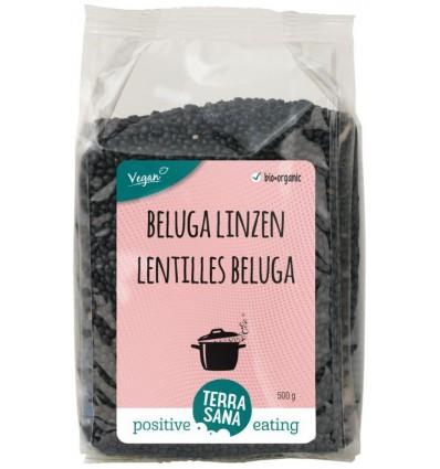 Terrasana Linzen beluga 500 gram | € 3.38 | Superfoodstore.nl