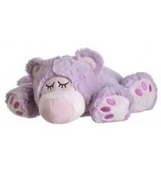 Warmies Sleepy bear lila | € 21.99 | Superfoodstore.nl