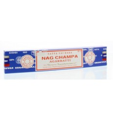 Nag Champa Wierook nag champa agarbatti 15 gram   € 1.38   Superfoodstore.nl