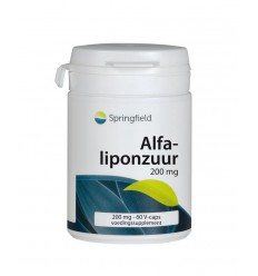 Springfield Alfa-liponzuur 200 mg 60 vcaps | € 33.48 | Superfoodstore.nl