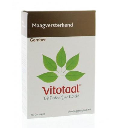 Vitotaal Gember 45 capsules | € 9.13 | Superfoodstore.nl