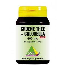 SNP Groene thee chlorella 400 mg puur 60 capsules   € 20.79   Superfoodstore.nl