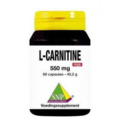 SNP L Carnitine 550 mg puur 60 capsules | € 42.99 | Superfoodstore.nl