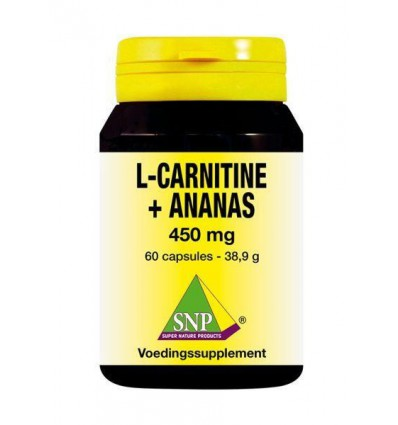 SNP L Carnitine ananas 450 mg 60 capsules | € 25.26 | Superfoodstore.nl