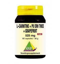 SNP L Carnitine pu erh grapefruit 60 capsules | € 25.26 | Superfoodstore.nl
