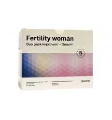 Nutriphyt Fertility woman duo 2 x 60 capsules 120 capsules | € 75.89 | Superfoodstore.nl