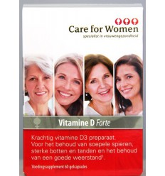 Care For Women Vitamine D forte 60 capsules | € 11.93 | Superfoodstore.nl