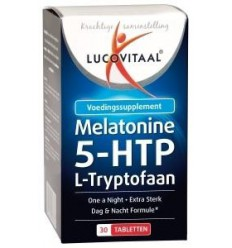 Lucovitaal Melatonine L-tryptofaan 0.1 mg 30 tabletten | € 12.08 | Superfoodstore.nl