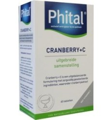 Phital Cranberry + C 60 tabletten | € 16.42 | Superfoodstore.nl