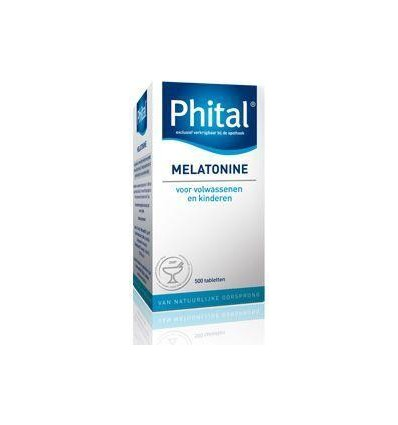 Phital Melatonine 0.1 mg 500 tabletten | € 11.84 | Superfoodstore.nl