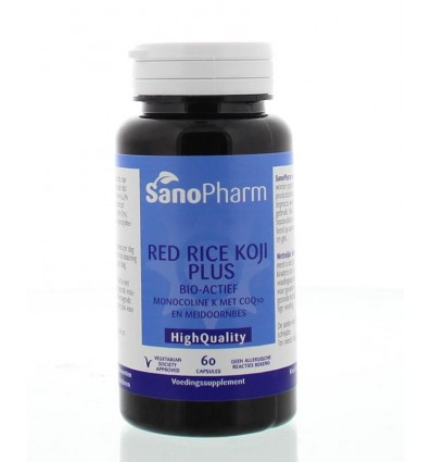 Sanopharm Red rice koji plus high quality 60 capsules | € 21.45 | Superfoodstore.nl