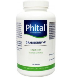 Phital Cranberry + C 250 tabletten | € 52.59 | Superfoodstore.nl