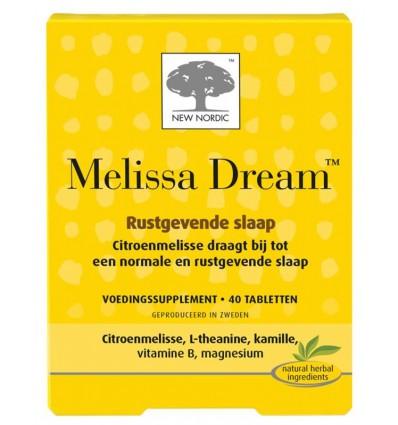 New Nordic Melissa dream 40 tabletten   € 18.03   Superfoodstore.nl