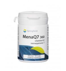 Springfield MenaQ7-360 vitamine K2 360 mcg 30 vcaps | € 23.79 | Superfoodstore.nl