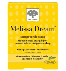 New Nordic Melissa dream 100 tabletten | € 41.63 | Superfoodstore.nl