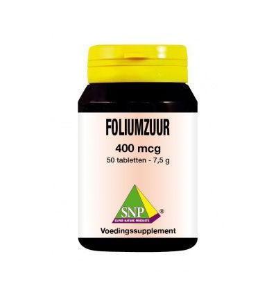 SNP Foliumzuur 400 mcg 50 tabletten | € 15.45 | Superfoodstore.nl