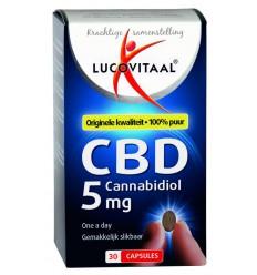 Lucovitaal Cannabidiol CBD 5 mg 30 capsules | € 17.74 | Superfoodstore.nl