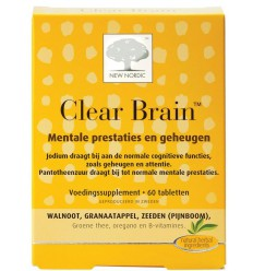 New Nordic Clear brain 60 tabletten | € 23.05 | Superfoodstore.nl
