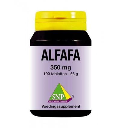 SNP Alfalfa 350 mg 100 tabletten | € 14.79 | Superfoodstore.nl