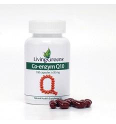 Livinggreens Co enzym Q10 30 mg 180 capsules   € 24.40   Superfoodstore.nl
