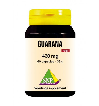 SNP Guarana 430 mg puur 60 capsules | € 25.26 | Superfoodstore.nl