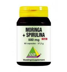 SNP Moringa & spirulina 500 mg puur 60 capsules | € 25.26 | Superfoodstore.nl